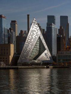 The new VIA West in Manhattan, by Bjarke Ingels Group (BIG). #futuristicarchitecture