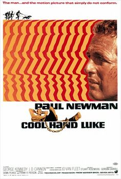 Cool Hand Luke, starring Paul Newman poster, 1967. Click to see some classic Newman photos at Boom Underground, who is posting them as part of a month-long series on Hunks We Were Hot For, a look at male heart-throbs from the 1960s, 70s (and a few from the 50s)