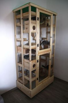 Look from outside - Cloud Play Cage Cage Rat, Pet Rat Cages, Cat Cages, Snake Cages, Cage Chinchilla, Chinchilla Care, Ferret Cage, Chinchillas, Pet Rats