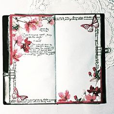 Decorated pages for noting down quotes