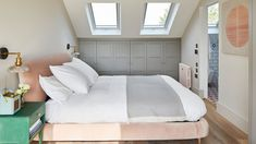 This Scandi-style loft bedroom is just dreamy Real home: this Scandi-style loft bedroom is just dreamy Small Attic Bathroom, Small Attic Room, Attic Master Bedroom, Attic Bedroom Designs, Loft Bathroom, Attic Bedrooms, Bedroom Loft, Bedroom Decor, Small Loft Spaces