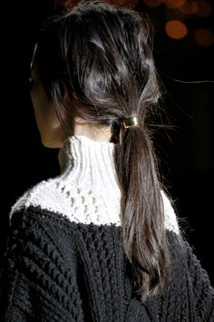 Two-tone cable knit {Dries Van Noten F.W 11.12}