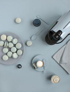 Monochromes Nespresso x Griottes - Blue Sky - Macarons myrtilles