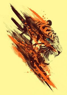 Tiger art by Yven