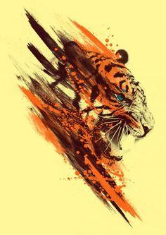 Tiger art by Yven