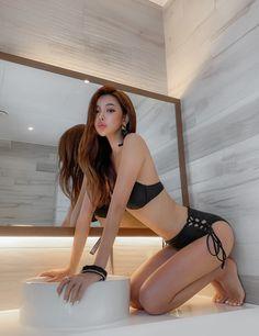 Korean Model 259 #koreanmodel #koreanbeauty #koreanfashion #model #beauty #fashion Asian Model Girl, Korean Model, Up Skirt Pics, Asian Lingerie, Model Pictures, Beautiful Asian Women, Sexy Asian Girls, Swimsuits, Swimwear