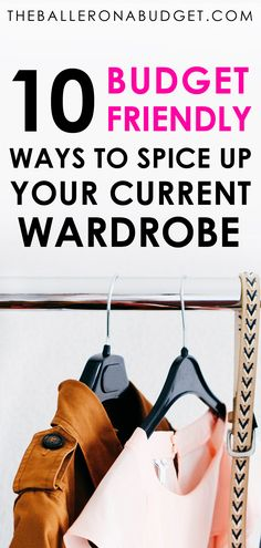 Want that new year new me vibe without tossing out your entire closet and buying a new wardrobe? Here are 10 budget-friendly ways to spice up your current wardrobe. Save Money On Groceries, Ways To Save Money, Money Tips, Money Saving Tips, How To Make Money, Frugal Living Tips, Frugal Tips, Budgeting Money, New Wardrobe