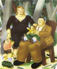 Botero Paintings and art for sale such as Mona Lisa, and Abu Ghraib of Columbian artworks; offer bio and Fernando Botero oil painting reproductions in figurative style. Diego Rivera, Frida Diego, Art Database, Oil Painting Reproductions, Naive Art, Figurative Art, Oeuvre D'art, Family Portraits, Art For Sale