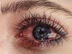 this is hyperrealism drawing Pretty Eyes, Beautiful Eyes, Jess Conte, Crying Eyes, Aesthetic Eyes, Sad Wallpaper, Sad Pictures, Sad Eyes, Eye Photography