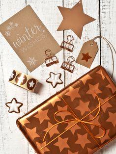 Geschenke verpacken - Weihnachten #kupfer #copper