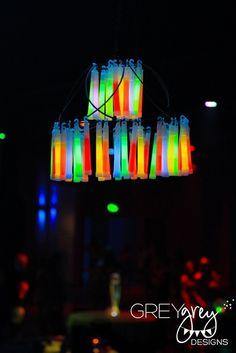"Photo 2 of 40: Glow in the Dark, Neon / Birthday ""Glow in the Dark 18th Birthday""   Catch My Party"