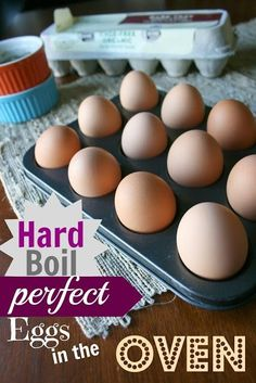 How to Make PERFECT Hard Boiled Eggs in the Oven by marianne
