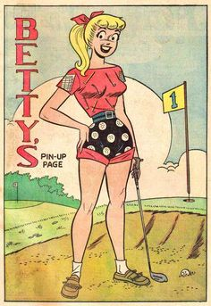 Betty's Pin-up Page Archie Comics Characters, Archie Comic Books, Fictional Characters, Cartoon Tv, Cartoon Drawings, Popeye Movie, Archie Betty And Veronica, Millie The Model, Comics Vintage