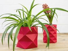 Facile a faire, tendance, pas cher ! On kiff grave ce DIY cache pot origami #maplantemonbonheur