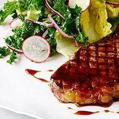 James Martin teriyaki steak and green salad recipe