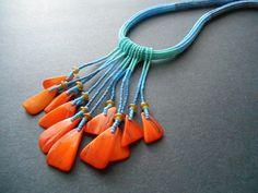 Orange Delight Fringe Necklace