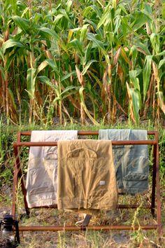 Ghanzi Folding Towel Hanger.