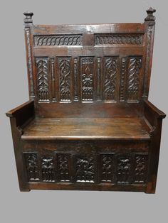 Country Oak Settle John Whatton And Katherine 1651 Free Shipping To England Pre-1800 Antiques