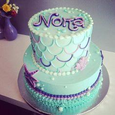 Mermaid Birthday cake, under the sea Mermaid Birthday Cakes, Little Mermaid Birthday, Little Mermaid Parties, Mermaid Cakes, Mermaid Baby Showers, Baby Mermaid, Mermaid Beach, 2nd Birthday Parties, Baby Birthday