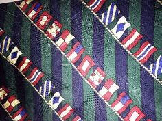 CLASSIC NAUTICAL FLAG  NECK TIE BY TOMMY HILFIGER 100% SILK EUC FREE SHIPPING #TommyHilfiger #NeckTie