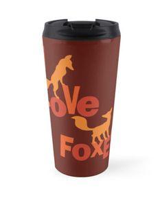 I Love Foxes! Travel Mug #fox #foxes #animals #love #autumn