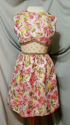 Check out this item in my Etsy shop https://www.etsy.com/listing/482217229/rare-vintage-1960s-70s-floral-metallic