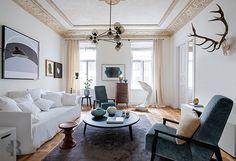 A New Mood / Warsaw - Marco Bertolini Ceiling Trim, Ceiling Decor, Interior Design Magazine, Interior Design Studio, Mood Words, Doors And Floors, Paris Design, Italian Furniture, Architectural Digest