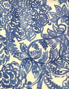 Luli Sanchez / floral pattern / blue  & white