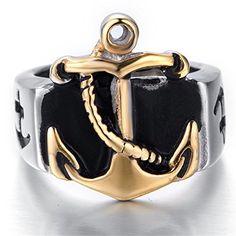 Men Stainless Steel Silver Gold Anchor Ring,Size 8-13 Jew... http://www.amazon.com/dp/B01DQTEMP0/ref=cm_sw_r_pi_dp_Fyoixb1YPKXV2