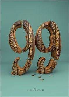 /// 100 Creativ Numbers /// on Behance