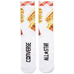 Converse Pizza Sublimated Crew Single Women's No Show Socks Shoes,... ($5.99) ❤ liked on Polyvore featuring shoes, socks, multi, converse footwear, lightweight shoes, light weight shoes, converse shoes and crew shoes