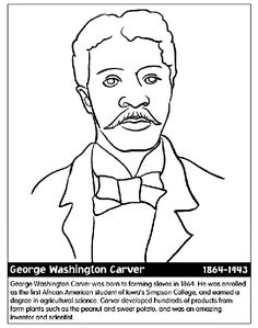 George Washington Carver Coloring Sheet from wwwdaniellesplace