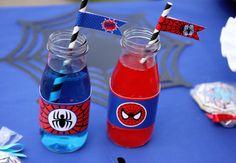 INSTANTÁNEA de Spiderman para imprimir botella por CupcakeExpress2