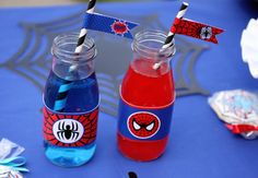 Spiderman INSTANT Printable Water Bottle Labels  Birthday Party DIY  amazing spiderman