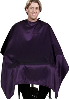 """(Save $20) Set of 6 Salon Cutting Cape / 50"""" X 60"""" In WHITE Silkarah From ProHairTools"""