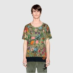 GUCCI Snake Linen Tshirt - Sold by Gucci