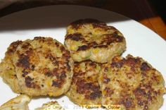 Chicken Rissoles Chicken Rissoles, Grilled Bread, Egg Free, Main Meals, A Food, Food Processor Recipes, Dairy Free, Cooking Recipes, Snacks