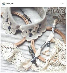 beautiful handmade embroidered collar by atelier rai rai