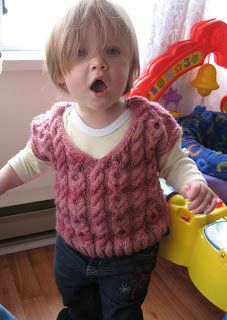 Free Knitting Pattern - Toddler & Children's Clothes: Stormy Rose Girl's Vest