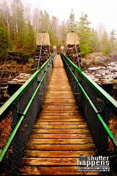 Jay Cooke Hanging Bridge In Fog by Shutter Happens Photography. Taken in March…
