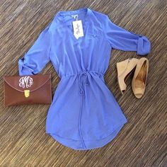 Blue Blouse Dress