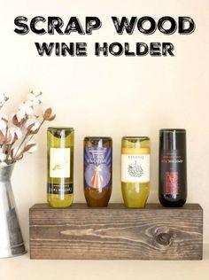 Scrap Wood Wine Holder