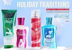 bath and body works winter collection