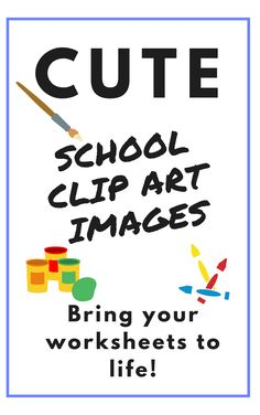 In both colour and lineart this school clipart image pack includes all the major supplies you may need to complete your craft. Not only does it have the much needed scissors, tape and glue, it also has separate scissor blades you can sandwich images between and split pins in various stages of being...split! repin for later!  #schoolclipart #schoolclipartimages #cuteclipart #clipartforteachers Cute Clipart, Clipart Images, School Clipart, Classroom Crafts, Scissors, Line Art, Separate, Worksheets, Tape