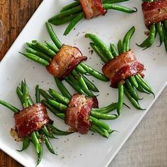 Green Bean Bundles with Bacon and Brown Sugar...Williams Sonoma Recipe
