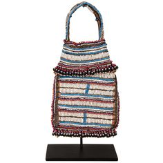 19th Century Tribal Beaded Tobacco Bag, South Africa | From a unique collection of antique and modern curiosities at https://www.1stdibs.com/furniture/more-furniture-collectibles/curiosities/