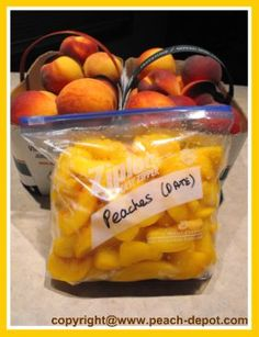 Picture of Frozen Peaches - How to Freeze Peaches