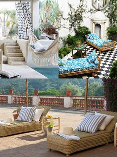 """Siesta Temple - Patio Design Ideas - Hutsly. The Joneses have got new garden furniture; and they're bragging about it. Of course your competitive self is thinking: """"I could do better"""". But decorating a patio, a backyard, a porch, a balcony or a terrace is no easy task and you may be lost for ideas. Where to start? Right here!"""