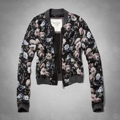 Velvet Embroidered Bomber Jacket - Jackets & Coats - Clothing ...