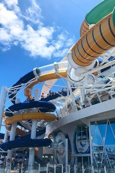 Harmony of the Seas | Get ready for The Perfect Storm. Cruise with Royal Caribbean onboard Harmony of the Seas and slide down each of these three unique, exciting slides before stepping into The Ultimate Abyss, the tallest slide at sea.